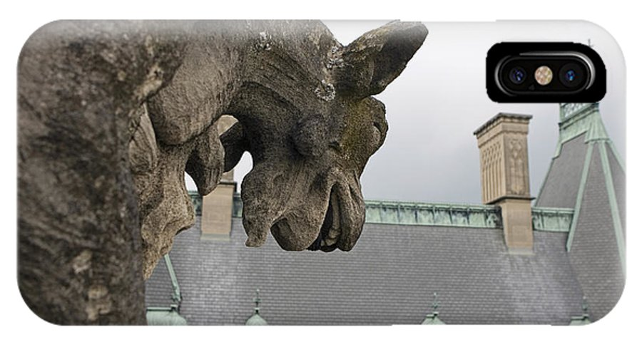 Biltmore Estate IPhone X Case featuring the photograph Gargoyles On Roof Of Biltmore Estate by Jason O Watson