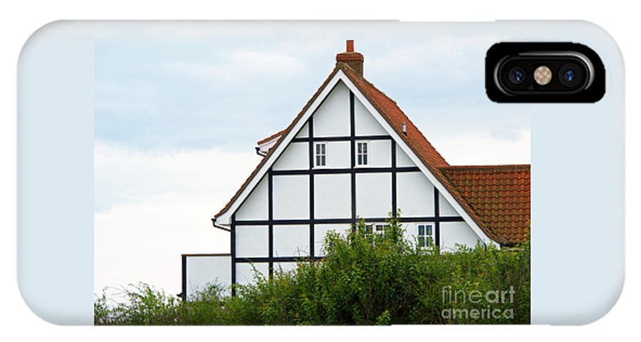 House IPhone X Case featuring the photograph Geometry In Black On White by Ann Horn