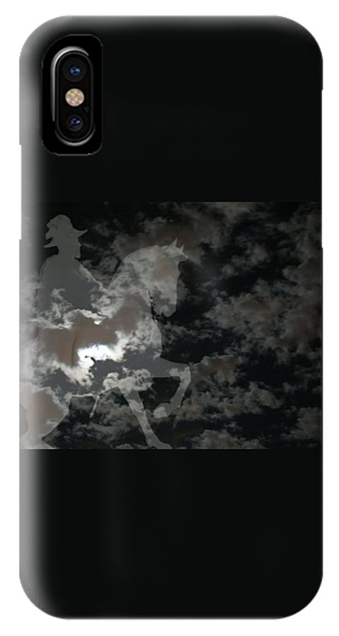 Ghost Rider IPhone X Case featuring the mixed media Ghost Rider by Ellen Henneke