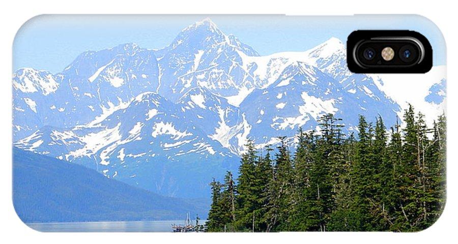 Alaska IPhone X Case featuring the photograph Glacier 7 by Lew Davis