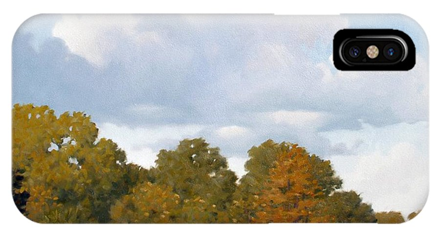 Bayou IPhone Case featuring the painting Gone Fishing by Kevin Lawrence Leveque