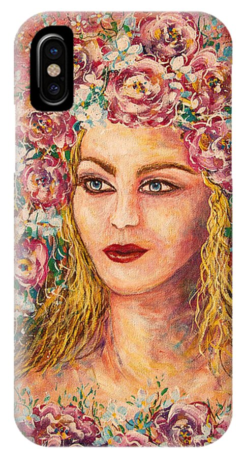 Goddess IPhone Case featuring the painting Good Fortune Goddess by Natalie Holland