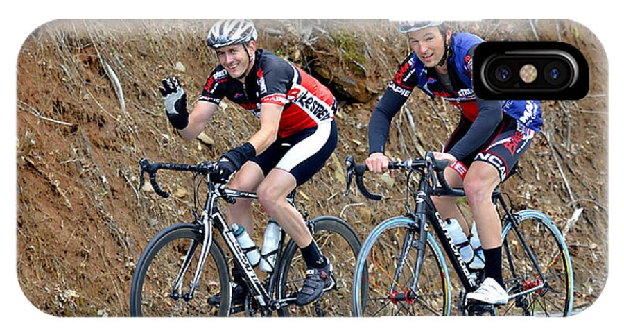 Sport IPhone X Case featuring the photograph Gran Fondo Bike Ride by Susan Leggett