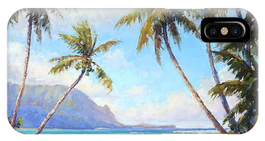 Hanalei IPhone X Case featuring the painting Hanalei Bay by Jenifer Prince