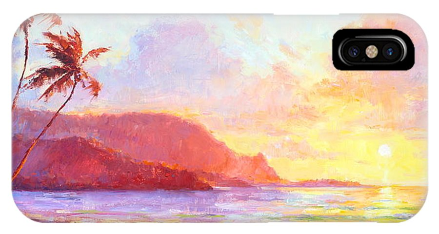Sunset IPhone X Case featuring the painting Hanalei Sunset by Jenifer Prince
