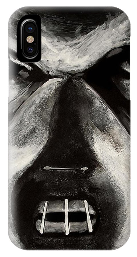 Hannibal IPhone X Case featuring the painting Hannibal by Dale Loos Jr