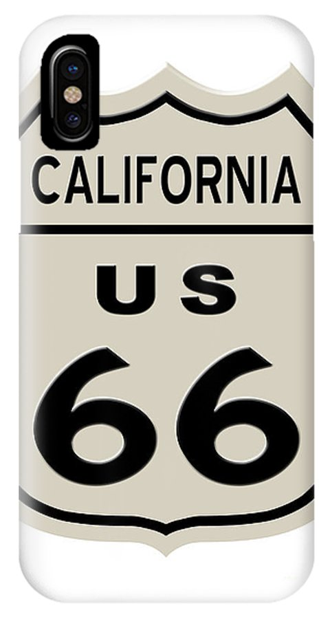 America IPhone X Case featuring the digital art Historical Route 66 Sign by Indian Summer