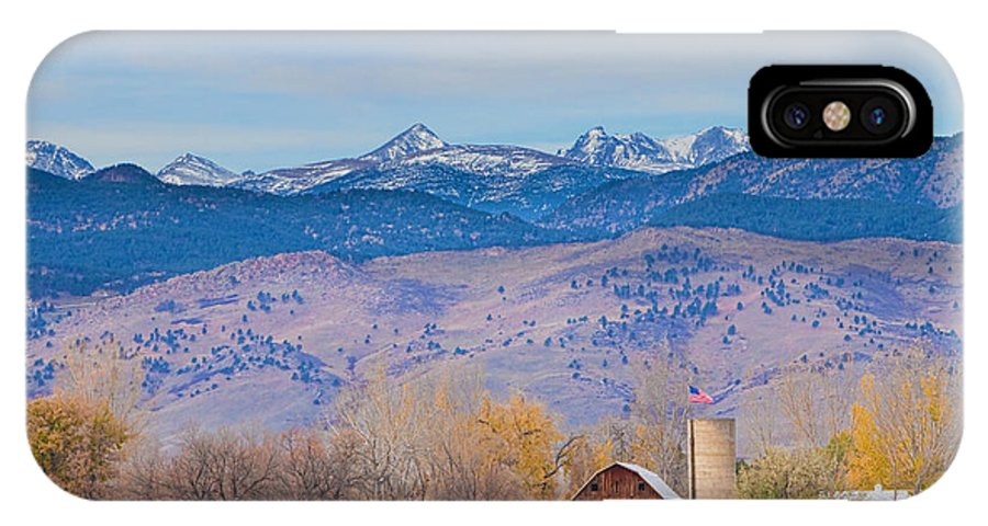 'hot Air Balloon' IPhone X Case featuring the photograph Hot Air Balloon Rocky Mountain Country View by James BO Insogna
