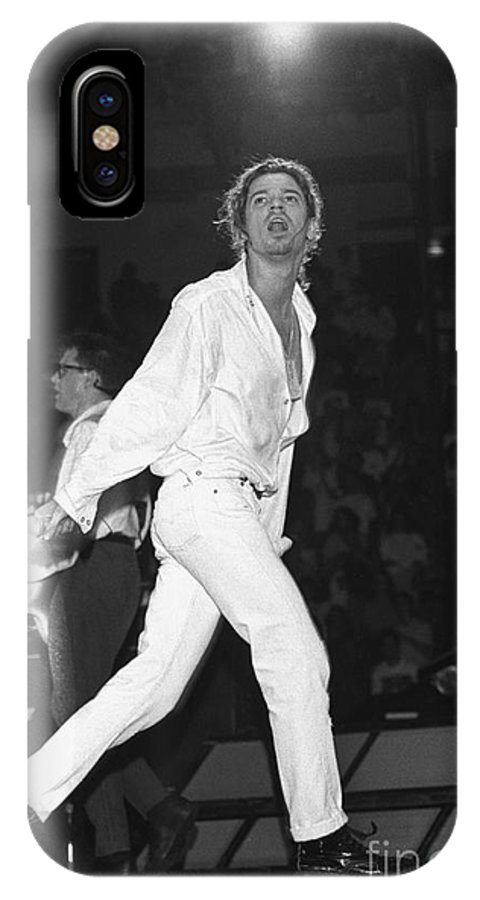 Singer IPhone X Case featuring the photograph Inxs by Concert Photos