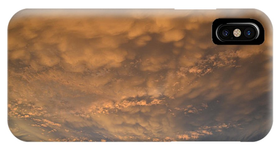 Summer IPhone X Case featuring the photograph July 19-2013 Sunset Sky by Lyle Crump