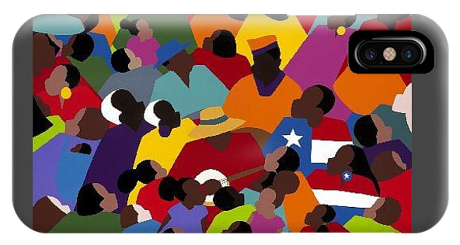 Juneteenth IPhone X Case featuring the painting Juneteenth by Synthia SAINT JAMES