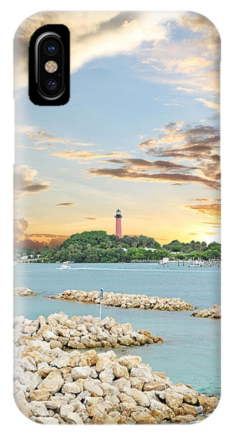 Jupiter IPhone X Case featuring the photograph Jupiter Lighthouse by Kristy Smith