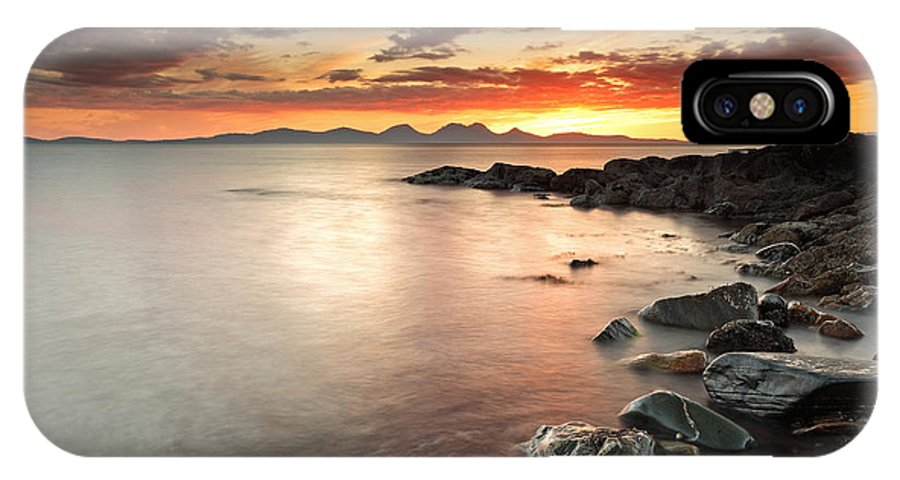 Sunset IPhone X Case featuring the photograph Jura Sunset by Grant Glendinning
