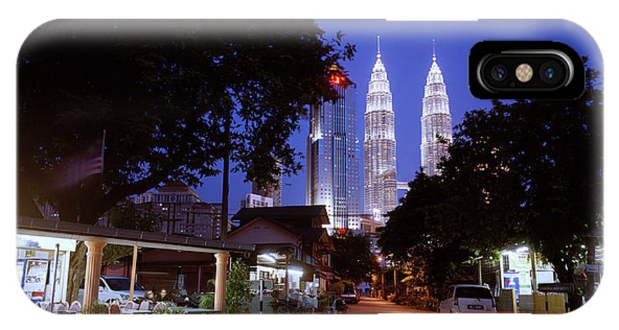 Kampung Baru IPhone X Case featuring the photograph Kampung Baru Nightfall by Shaun Higson