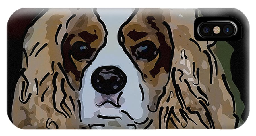 King Charles IPhone X / XS Case featuring the digital art King Charles Art by Dale Powell
