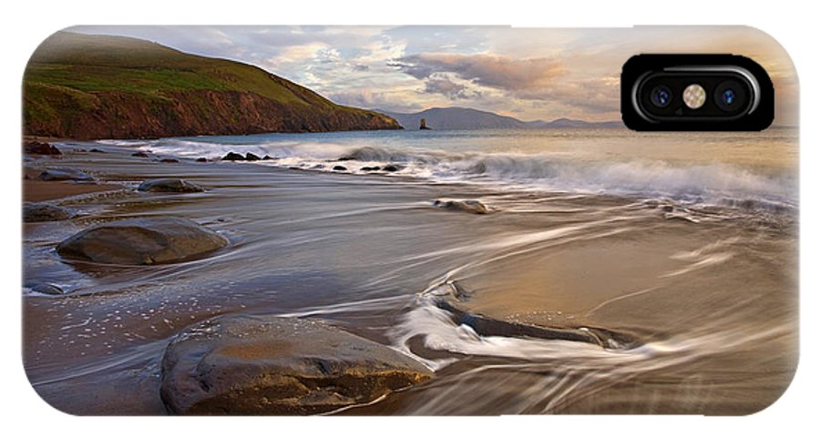 Ireland IPhone X Case featuring the photograph Kinnard Beach by Michael Walsh