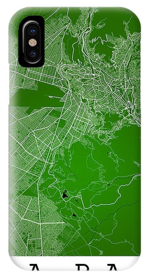 Road Map IPhone X Case featuring the digital art La Paz Street Map - La Paz Bolivia Road Map Art On Colored Back by Jurq Studio