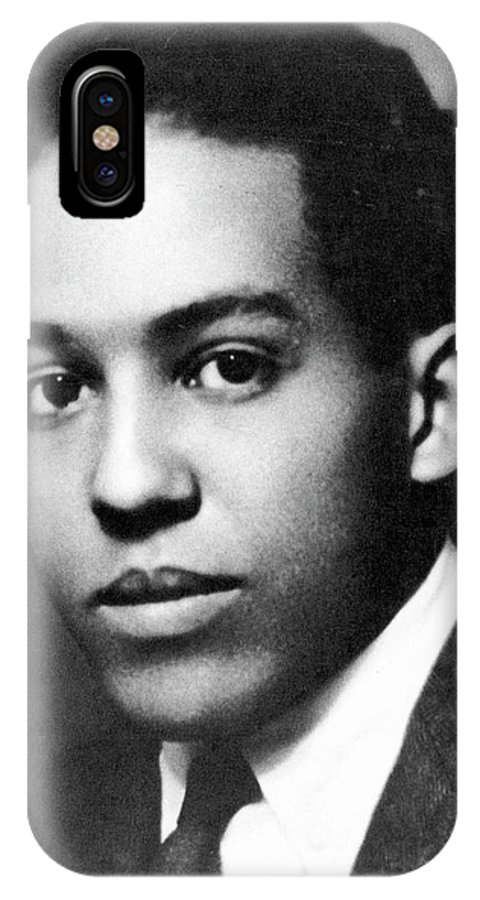 1920 IPhone X Case featuring the photograph Langston Hughes by Nickolas Muray