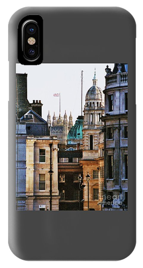 Skyline London Iconic Buildings Travel Historic Skyline Flag Destination Contest Winner Tourism England Towers Domes Windows Vertical City-scape Parliament Published Photography Historic Buildings Iconic Skyline Lanterns Flag Greeting Card Metal Frame Suggested Canvas Print Poster Print Wood Print Available On T Shirts Tote Bags Throw Pillows Duvet Covers Shower Curtains Mugs And Phone Cases IPhone X Case featuring the photograph A Vision Of London's Skyline by Marcus Dagan