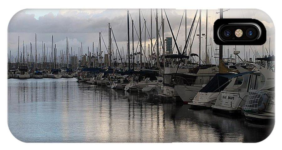 Long Beach IPhone X / XS Case featuring the photograph Long Beach Marina by Robert Butler