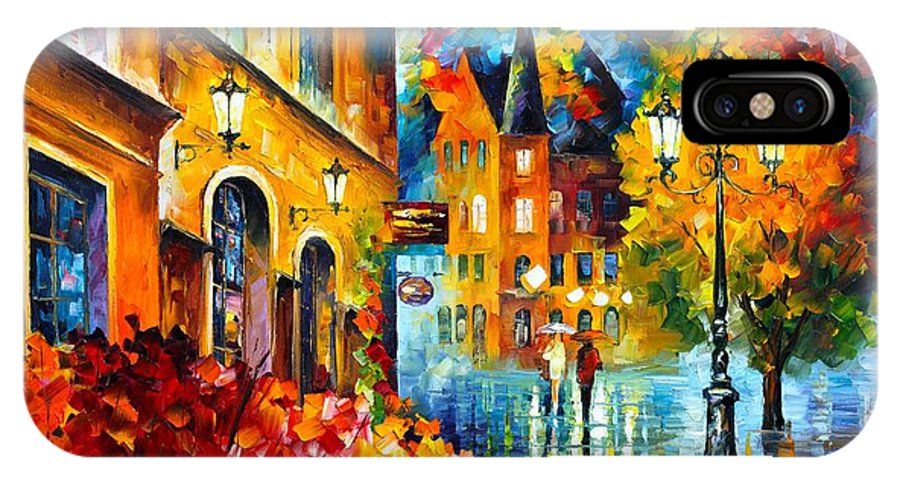 Afremov IPhone X Case featuring the painting Lucky Night by Leonid Afremov