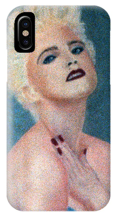 Madonna IPhone X / XS Case featuring the pastel Madonna The Early Years by Bill Holkham