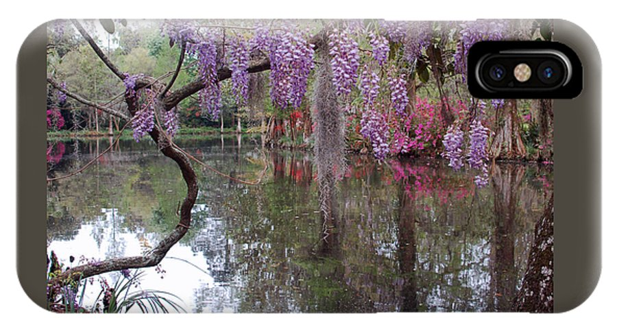 Wisteria IPhone X Case featuring the photograph Magnolia Plantation Gardens Series II by Suzanne Gaff