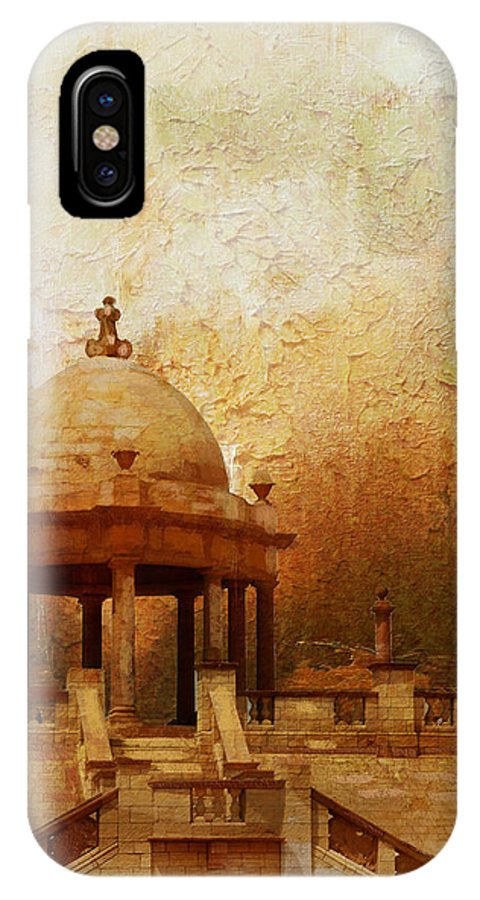 Pakistan IPhone X / XS Case featuring the painting Makli Hill by Catf