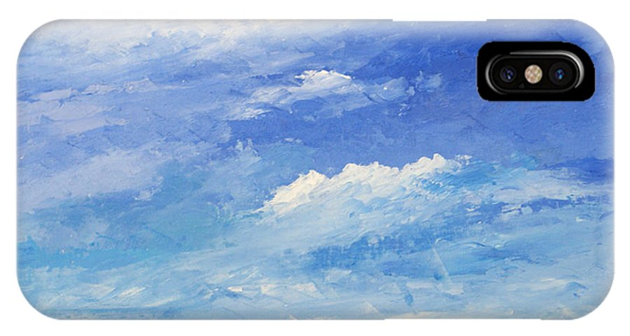 Sea IPhone X Case featuring the painting Mare by Niki Mastromonaco