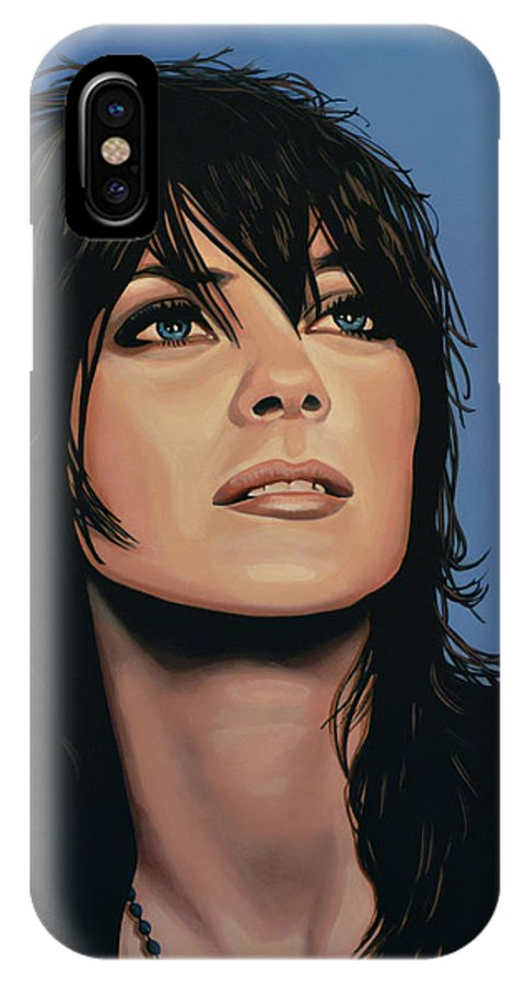 Marion Cotillard IPhone X Case featuring the painting Marion Cotillard by Paul Meijering