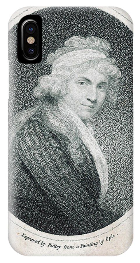 Mary IPhone X Case featuring the drawing Mary Wollstonecraft Godwin by Mary Evans Picture Library