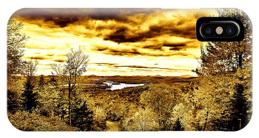 Adirondack's IPhone X Case featuring the photograph Mccauley Mountain Ski Slope by David Patterson