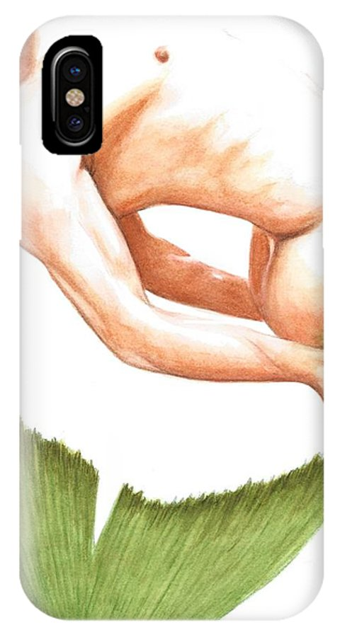 Merman IPhone X Case featuring the painting Merman by Bruce Lennon