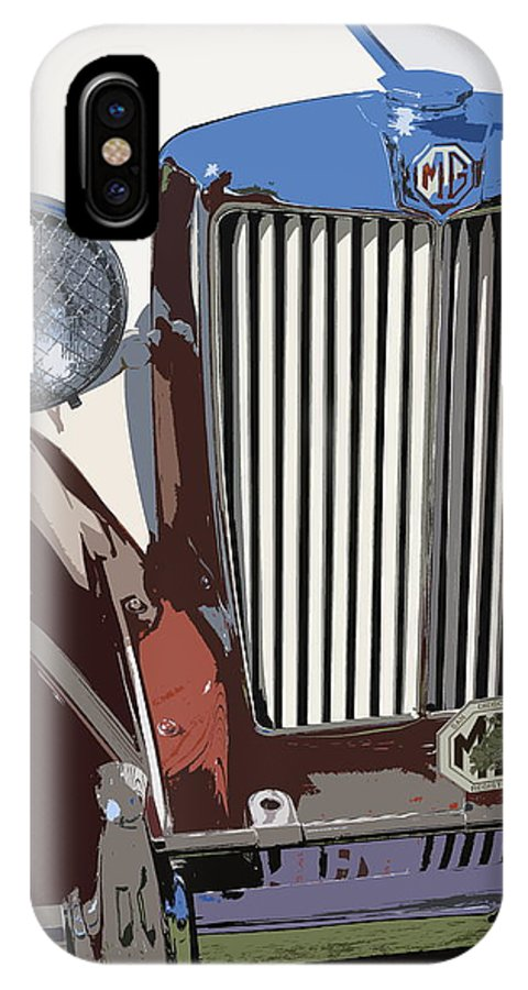 Mg IPhone X Case featuring the photograph Mg Grille Abstract by Mark Steven Burhart