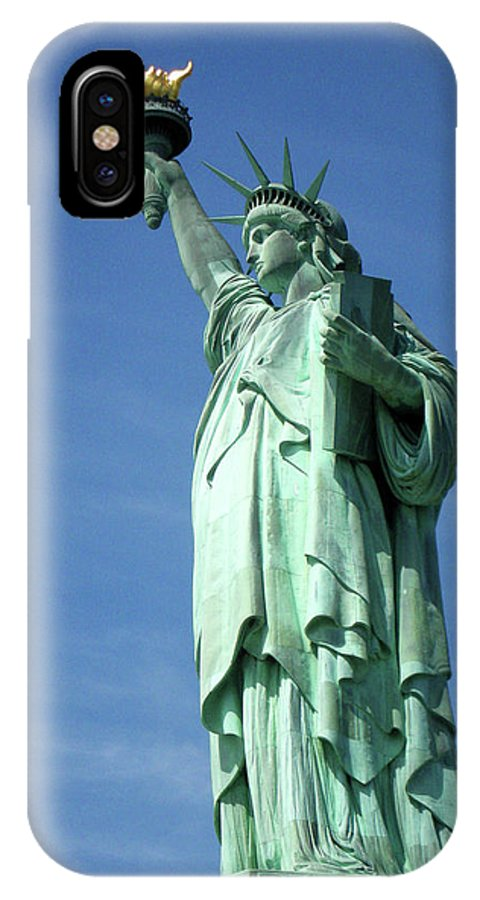 Statue Of Liberty IPhone X Case featuring the photograph Miss Liberty by Paul Mashburn