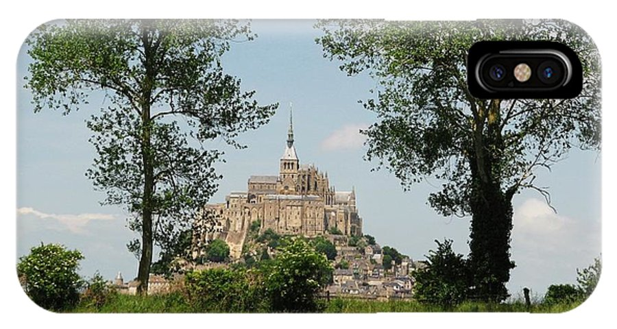 France IPhone X Case featuring the photograph Mont St. Michel by Mary Ellen Mueller Legault