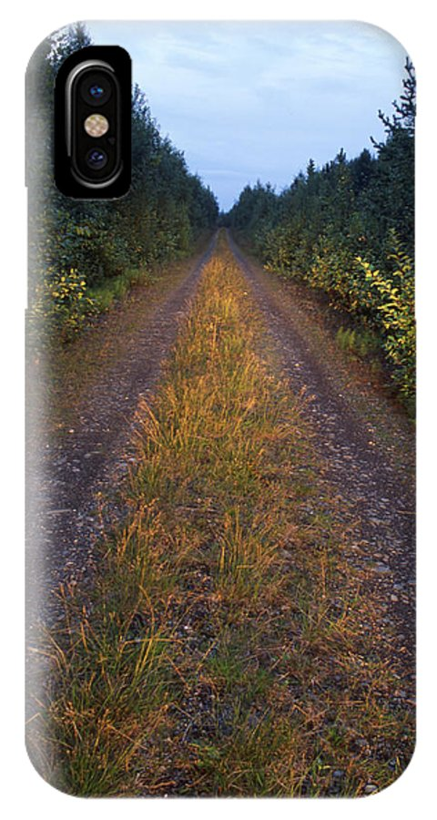 Peaceful IPhone X Case featuring the photograph Mountain Road by IB Photography