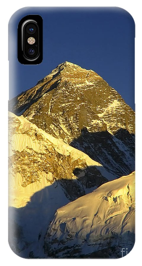 Everest IPhone X Case featuring the photograph Mt Everest by Tim Hester