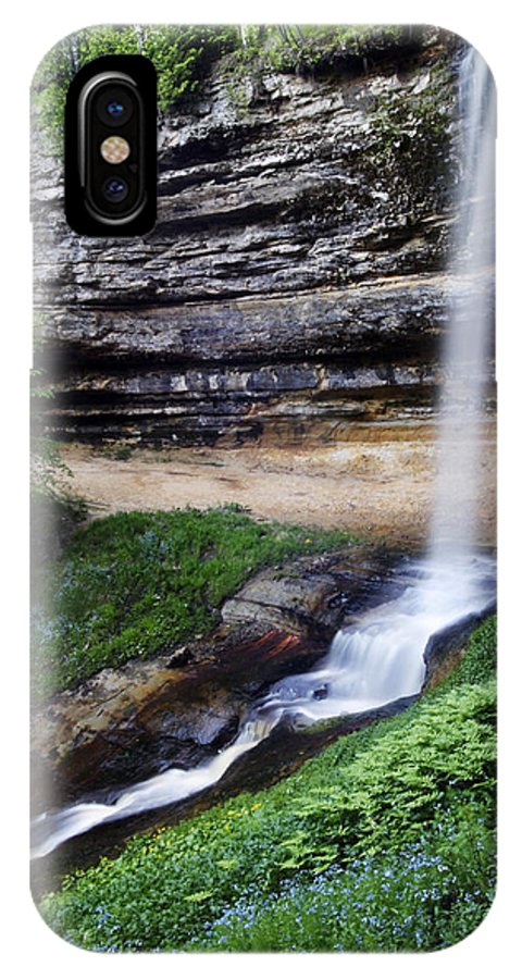 3scape IPhone X Case featuring the photograph Munising Falls by Adam Romanowicz