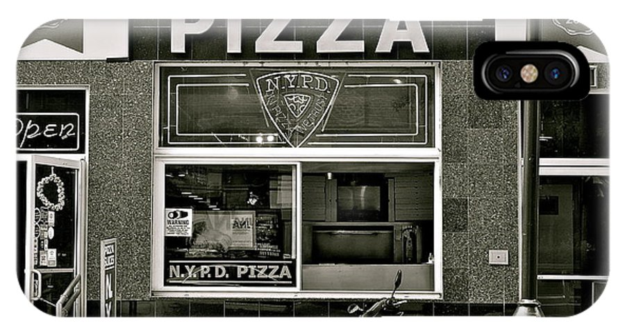 N.y.p.d. IPhone X Case featuring the photograph N.y.p.d. Pizza by Ira Shander