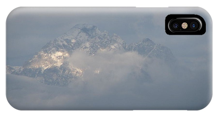 Rocky Mountains IPhone X Case featuring the photograph Out Of The Clouds by Greg Patzer