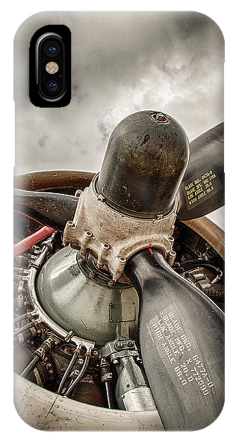 B17 IPhone X Case featuring the photograph P-17 Prop by Mike Burgquist