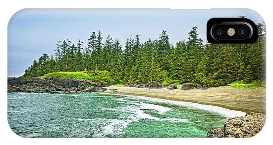 Pacific IPhone X Case featuring the photograph Pacific Ocean Coast On Vancouver Island by Elena Elisseeva