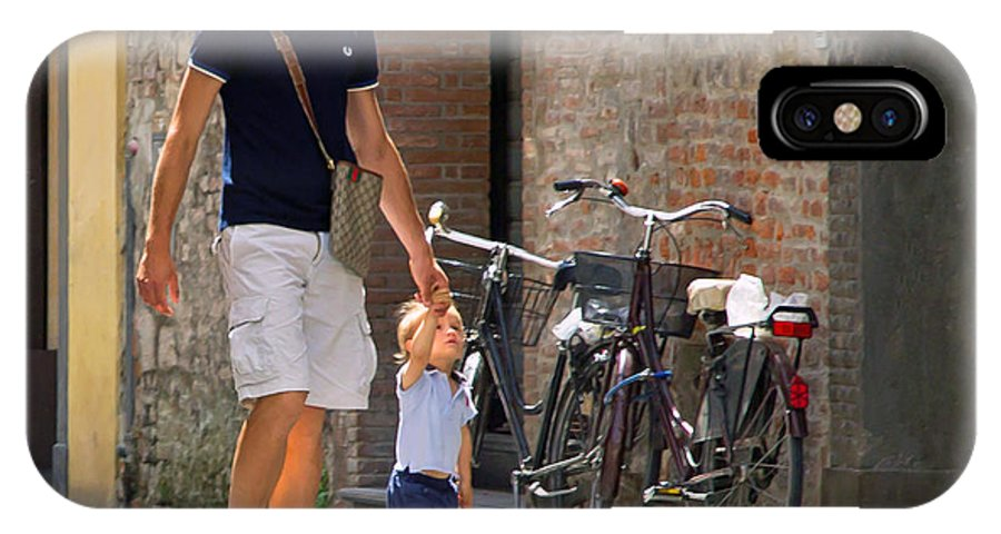 Alley IPhone X Case featuring the photograph Padre E Figlio by Keith Armstrong