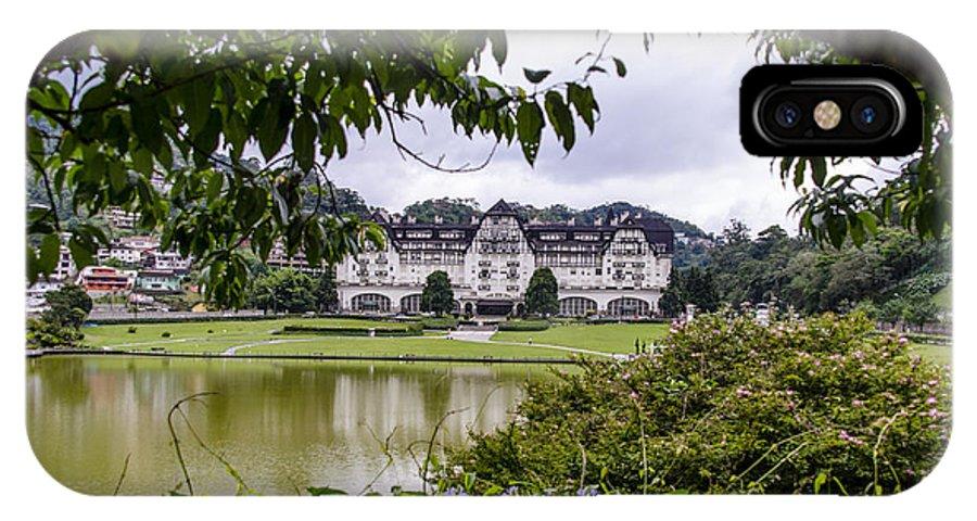 Palacio Quitandinha IPhone X / XS Case featuring the photograph Palacio Quitandinha - Petropolis Brazil by Jon Berghoff