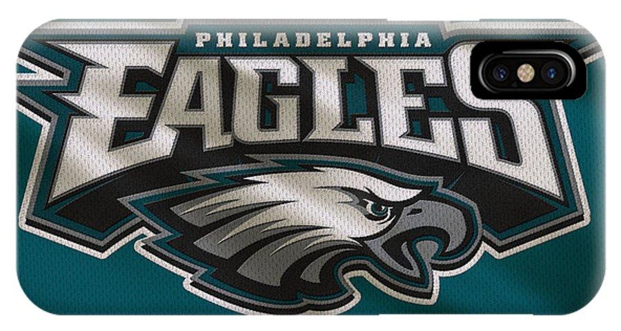 Eagles IPhone X Case featuring the photograph Philadelphia Eagles Uniform by Joe Hamilton