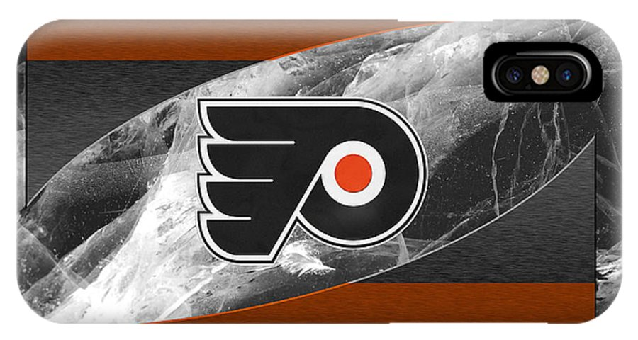 Flyers IPhone X Case featuring the photograph Philadelphia Flyers by Joe Hamilton