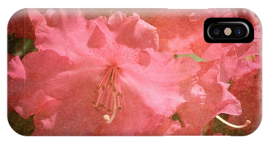 Pink IPhone X Case featuring the photograph Pink Flowers by Sherry Wright