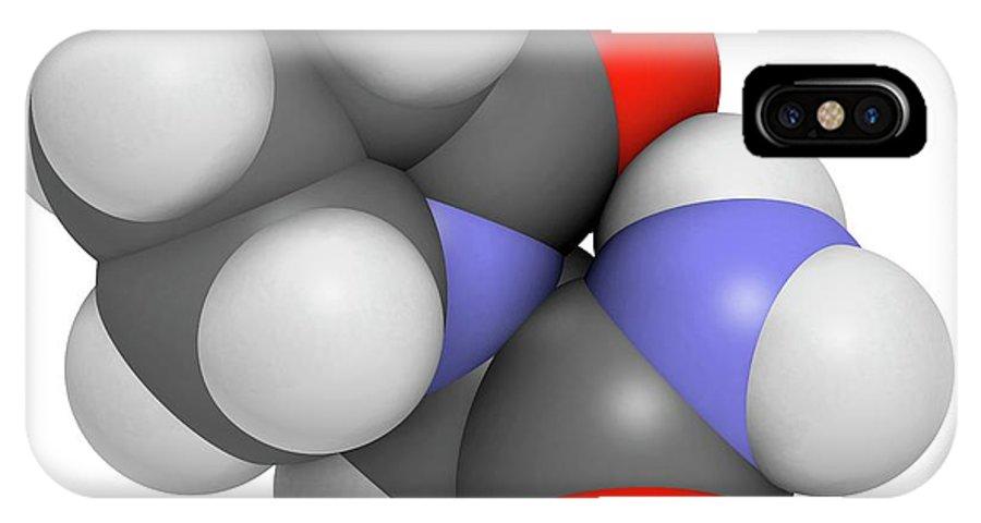 Piracetam IPhone X Case featuring the photograph Piracetam Nootropic Drug Molecule by Molekuul