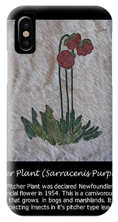 Pitcher Plant IPhone X Case featuring the photograph Pitcher Plant by Barbara Griffin